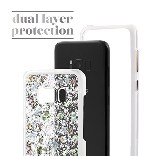 Case-Mate Wallet - Funda de piel para dinero para Samsung Galaxy S7, color negro perla