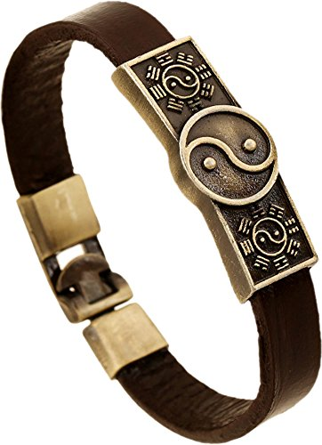 Hamoery Retro Alloy Leather Bracelet