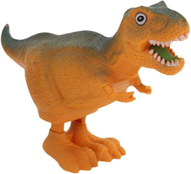 ZHOUBA Cute Dinosaur Animal Bouncing Wind up Clockwork Spring Educational Kids Toy Random Color