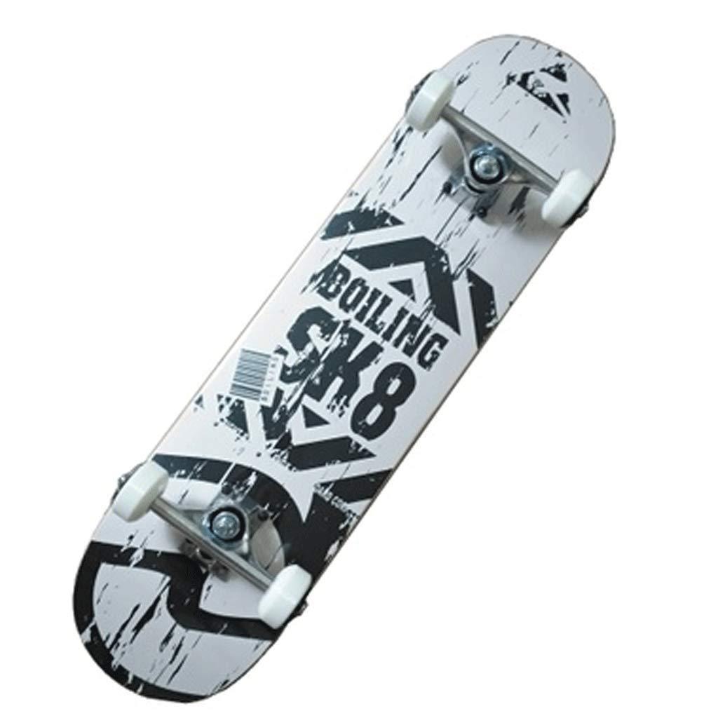 スキルバイラテラルスロープボードスケートボードストリートトラベルショートボード初心者スケートボード4輪アダルトスケートボード B07KM46KPF (色 : 白) B07KM46KPF : 白 白, 最低価格の:4f5ecc89 --- grupocmq.com