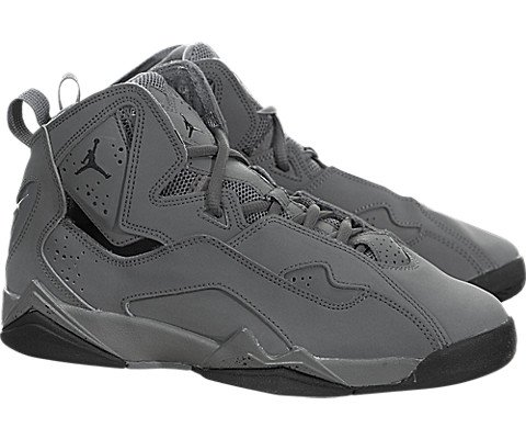 more photos 9dae8 5fc67 Galleon - Nike Jordan Kids Jordan True Flight Bg Cool Grey Black Basketball  Shoe 7 Kids US