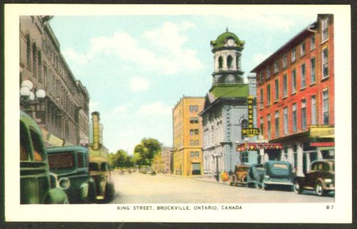Revere Hotel King St Brockville ON postcard 1930s (Revere Hotel compare prices)