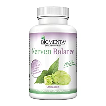 BIOMENTA NERVIOS BALANCE | VEGANO | con Extracto de LUPULO + VITAMINA C + B12 +