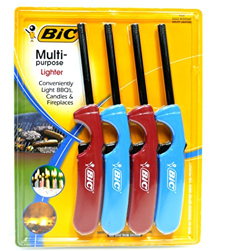 5 X BiC Multi-Purpose Lighter - 4 Lighter Value Pack by