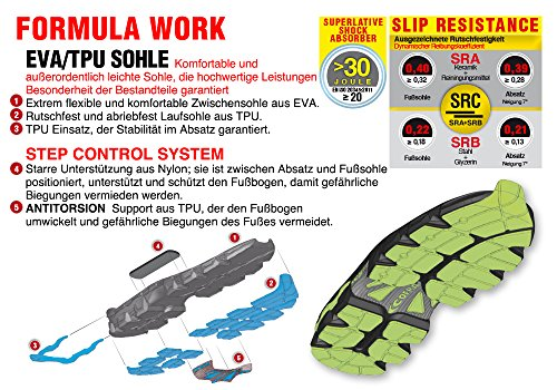 Cofra Lowball S1P SRC seguridad zapato Super Light Transpirable