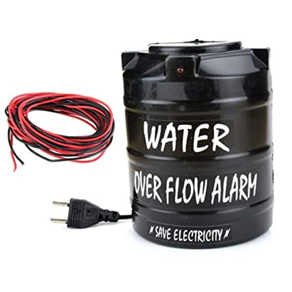 Yugg Plastic Water Tank Overflow Musical Alarm with 15m Wire (Black)