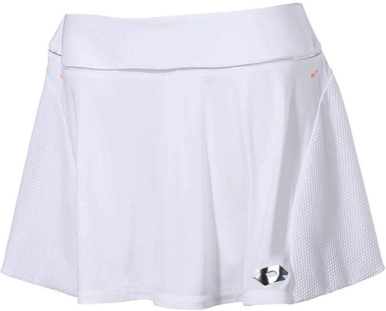 Lotto Nixia III W Falda de Tenis, Mujer, Blanco (Wht), S: Amazon ...