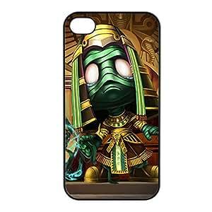 Amumu-004 League of Legends LoL case cover for Apple iPhone 4 / 4S - Plastic Black