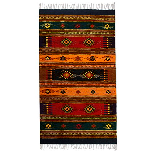 Used, NOVICA Multicolor Geometric Zapotec Wool Area Rug (4' for sale  Delivered anywhere in USA
