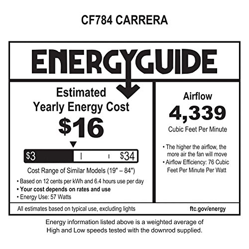 Emerson Fans Carrera, 60-Inch Ceiling Fan, Light Kit Adaptable, Oil Rubbed Bronze Finish