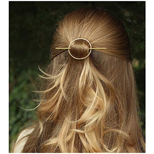 CHOA Simple Hairpin Hair Clips Minimalist 3 Color Wedding Hair Accessories for Women (Gold) ()