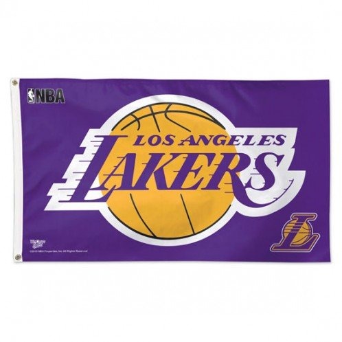 WinCraft NBA Los Angeles Lakers Deluxe Flag, 3' x 5'