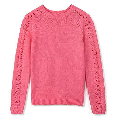 Kid Nation Girls Sweater Long Sleeve Crew Neck Cute Holiday Pullover Fashion Sweatshirt for Kids