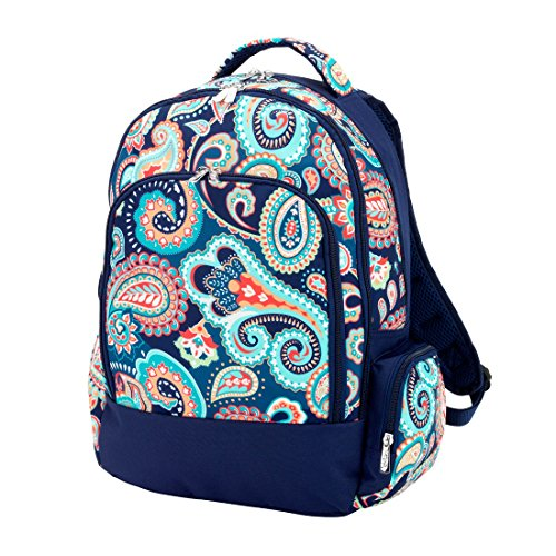 Fashion Print Deluxe Backpack - Personalization Available! (Paisley - Blank)