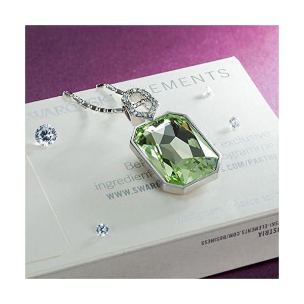 "QIANSE ""Garden Mist"" Purple / Green Pendant Necklace Made with Swarovski Crystals"