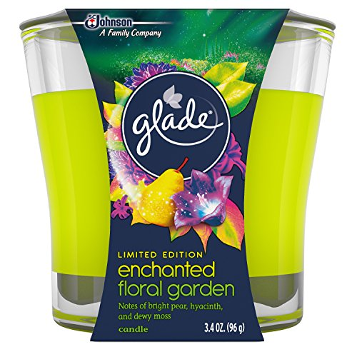 Glade Jar Candle Air Freshener, Enchanted Floral Garden, 3.4 Ounce