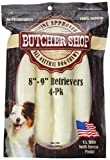 Butcher Shop 013151 8″-9″ Natural Rawhide Retrievers (4 Pack), Large.