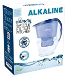 Wamery Certified Alkaline Water Filtration Pitcher, Slim Design Filtration System, 6 Cup 1.5 Liter Purifier Jug, Removes Chloride, Lead, Fluoride, Arsenic, Pollutants. The Natural Weight Loss Solution