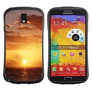 LASTONE PHONE CASE / Suave Silicona Caso Carcasa de Caucho Funda para Samsung Note 3 N9000 N9002 N9005 / Sunset Beautiful Nature 49