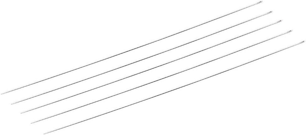Steel Beading Needles, DIY Jewelry Accessories Steel Beads Beading Threading String Needles Hand Tools (5pcs/Set Closed)