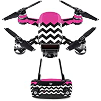 Skin for DJI Spark Mini Drone Combo - Hot Pink Chevron| MightySkins Protective, Durable, and Unique Vinyl Decal wrap cover | Easy To Apply, Remove, and Change Styles | Made in the USA