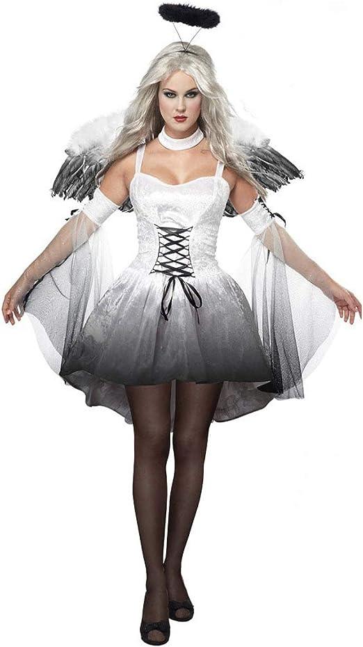 GAOJUAN Disfraz De Halloween Disfraz De Ángel Oscuro Cosplay ...