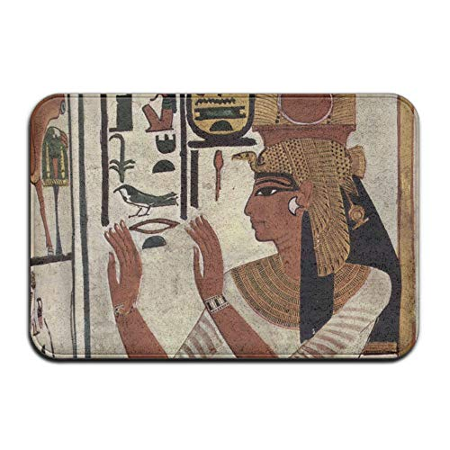 Feim-AO Tomb Paintings of Nefertari Anti-Slip Machine-Washable Doormats Home Decor Rug Bathroom Mats 31.5(L) X 19.7(W) Inch]()