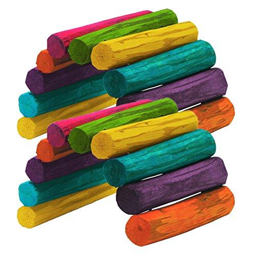 Tropical Stick Fiddle - Kaytee Tropical Fiddle Sticks Hideout, Medium (2 Pack)