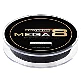 KastKing Mega 8 8-Strand Braid Fishing Line 300Yds/275M, 10 LB (4.6KG)(8 Strands) - Black Ops