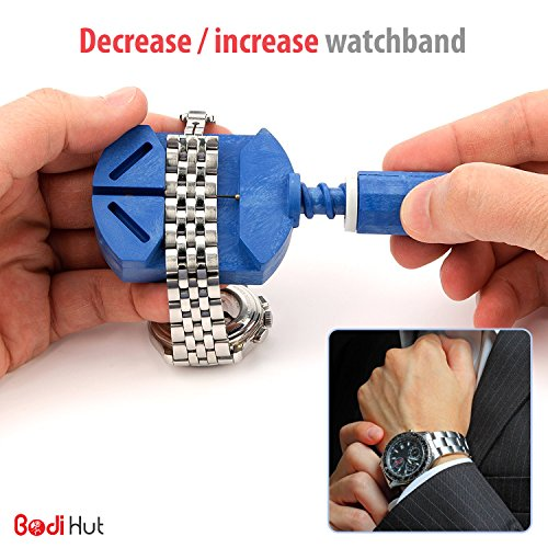 Bodi-Hut-Watch-Repair-Tool-Kit-with-Strong-Storage-Case-Microfibre-Cleaning-Towel-and-Full-Step-By-Step-Instructions-16-pieces