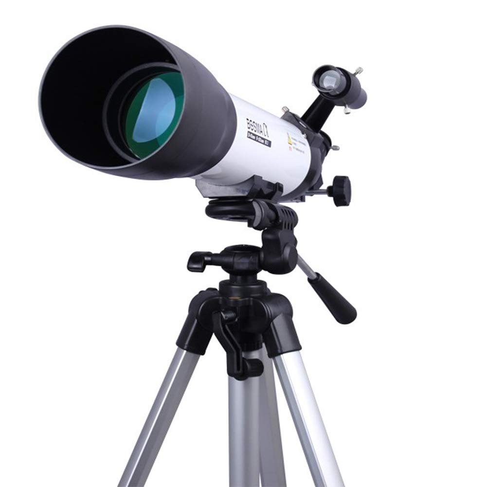 YINGZU Astronomical Refractor Portable Telescope 500x80mm with Adjustable Height Tripod Kids Beginners Travel Scope Moon Mirror Suitable for Watching The Planet and The Best Gift by YINGZU