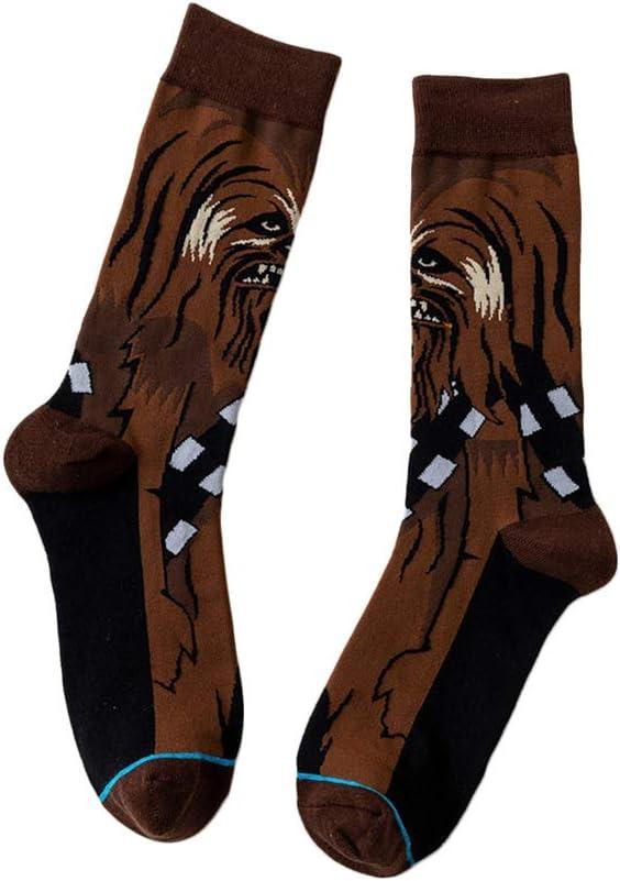 1 par de calcetines Star Wars, calcetines de algodón, Star Skateboard, dibujos animados, medias de movimiento, personaje bandera Elite H