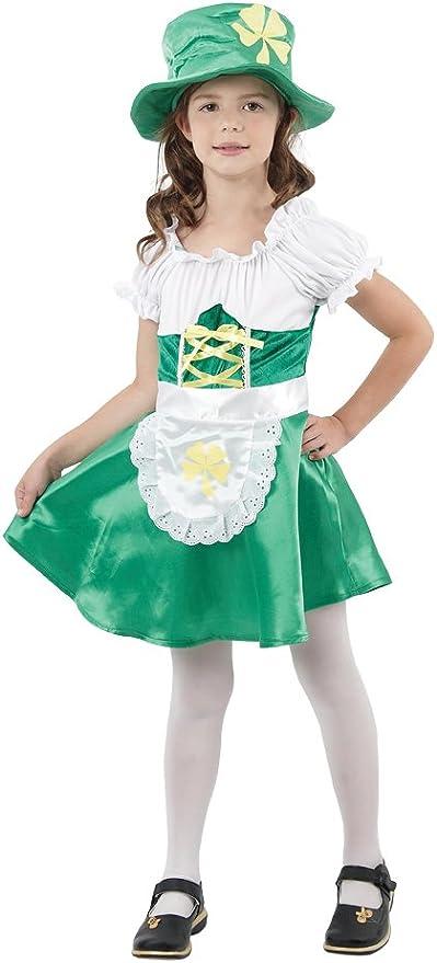 Girl Bristol Novelty CC841 Traje de Niña Leprechaun,Blanco ...