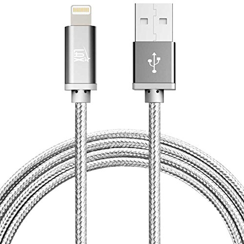 LAX Gadgets Cable Lightning para Cargador de iPhone, [Certificado MFI] Trenzado Duradero, Cable USB Lightning de Apple, 3 m,...