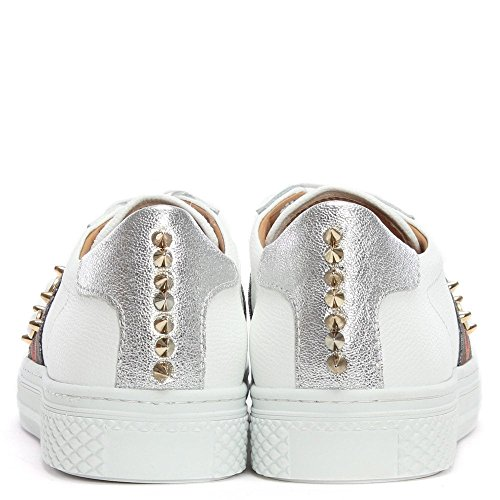 Multicoloured White Leather Daniel Studliest Embellished Trainers White 45qEETnZAW