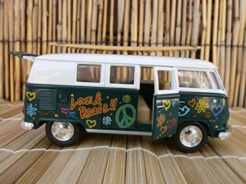 1962 CLASSIC VW LOVE & PEACE SURFBOARD LONGBOARD VAN BEACH OLE LOGO BUS - Sunglasses B Logo