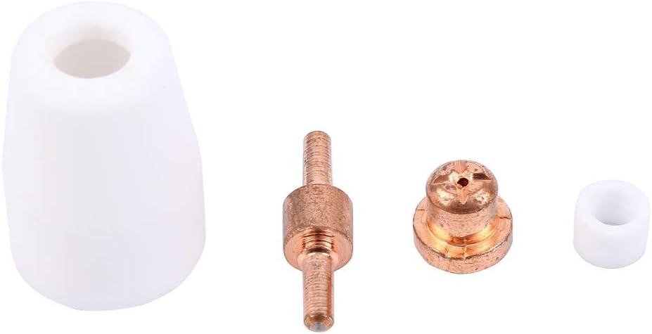 MuGuang 130Pcs Plasmaschneiden Verbrauchsmaterialien Plasma Elektrode Spitze D/üse Schneiden Verbrauchsmaterial Zubeh/ör Passform D/üsenelektrode Verbrauchsmaterial Spitzend/üse f/ür PT-31 CUT40 CUT50