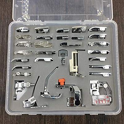 Juego de prensatelas para máquina de coser, 32 piezas, patas de ...