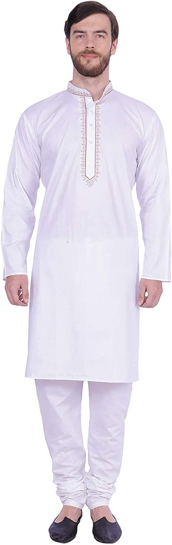 Maple Clothing Cotton Men's Kurta Pajama Set Indian Party Wear