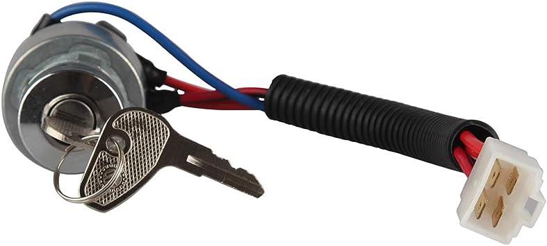 L2800F,L4400F,MX5000F LARBI TC020-31820 Kubota Ignition Starter Switch With 3 Position 5 Termials 2 Keys for Kubota Tractor,B2150,M6800,M4900,BX2200,B1700E,13750,KX91-3,14150,13010