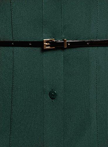Vert Ceinture oodji avec Cintre Coupe 6e00n Ultra Chemisier Femme wxHqHv16B