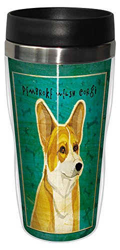 (Tree-Free Greetings sg24044 Pembroke Welsh Corgi by John W. Golden 16-Ounce Sip 'N Go Stainless Steel Lined Travel Tumbler)