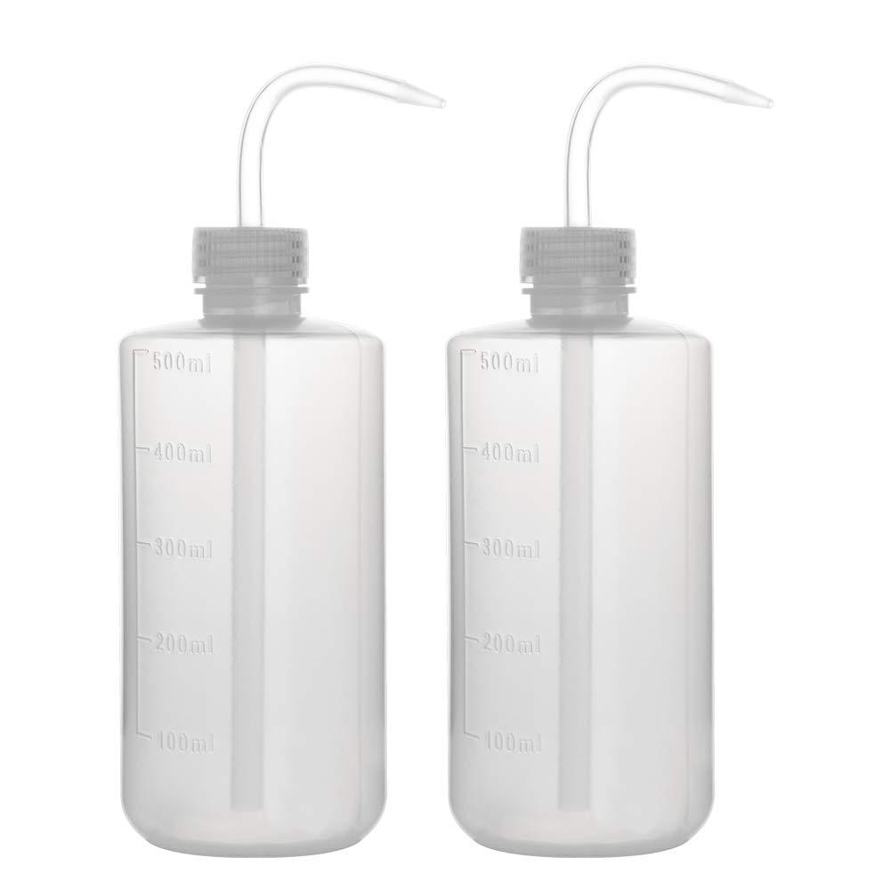 LDPE con boca estrecha StonyLab botella de lavado paquete de 2 botellas de pl/ástico para lavar con presi/ón