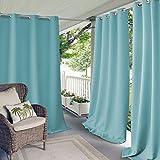 gazebo curtains amazon Elrene Home Fashions Indoor/Outdoor Patio Gazebo Pergola Solid Grommet Top Single Panel Window Curtain Drape, 52 Inch Wide x 108 Inch Long, Turquoise (1 Panel)