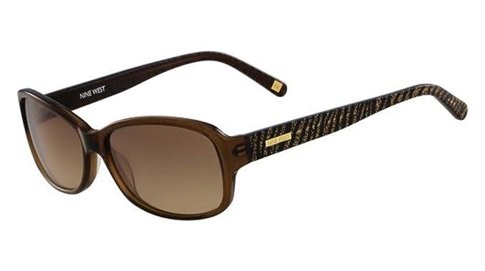 Amazon.com: anteojos de sol Nine West nw588s 210 Cristal ...