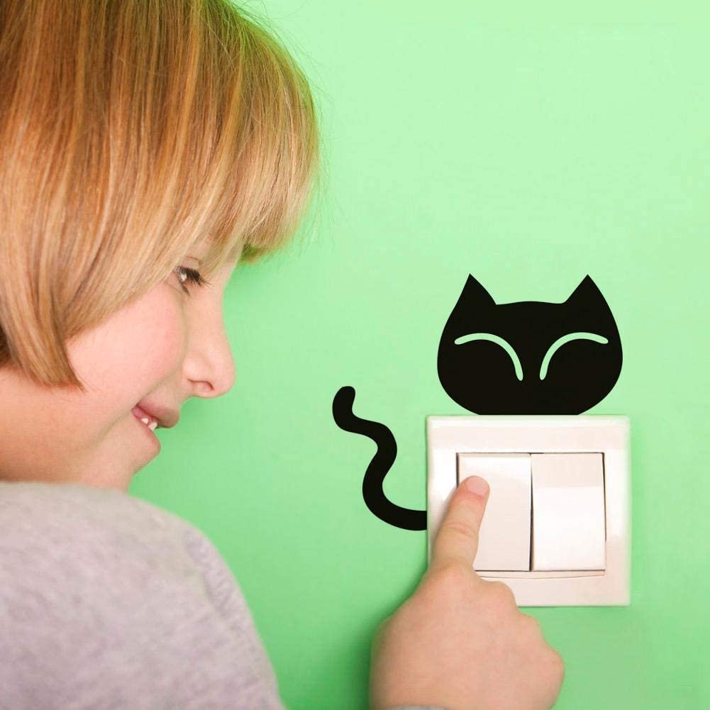 Domybest Autocollant Mural Interupteur Mignon Chat Chien Autocollant Interrupteur de Lumi/ère /étanche Bricolage Amovible Sticker Interrupteur Stickers Muraux pour Enfants Chambre