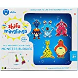 Shifu Minglings Monsters Augmented Reality | Mix & Match Magnet Wooden Toys Children Ages 3 up | Fun Educational Game Set