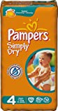Pampers Simply Dry Size 4 (Maxi) Economy 2 x Packs of 50 Nappies--100 Nappies