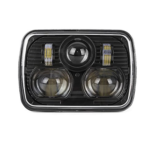 "Black 5"" X 7"" LED Headlight Replacement for Jeep Cherokee"