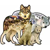 : Sunsout Wolf Song Shaped 1000 Piece Jigsaw Puzzle